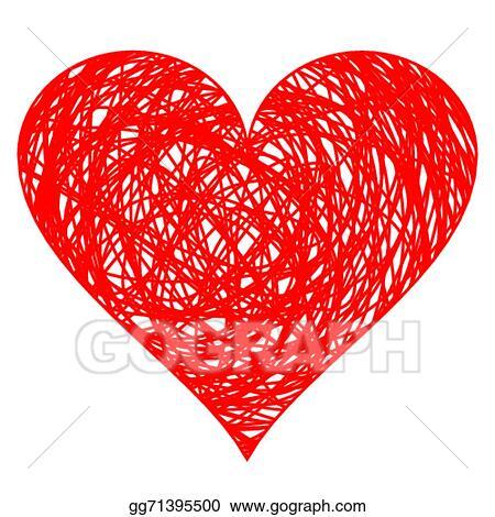 Vector Illustration Hand Drawn Heart Eps Clipart Gg71395500 Gograph