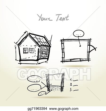 Hand Drawn House Plan Sketch Project For Your Design And Present