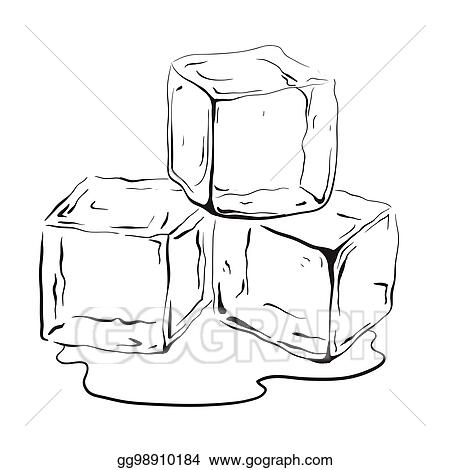 eps vector hand drawn ice cubes black and white vector illustration for your creativity stock clipart illustration gg98910184 gograph https www gograph com clipart license summary gg98910184