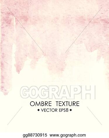 Vector Clipart Hand Drawn Ombre Texture Watercolor