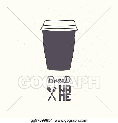 Vector Illustration - Hand drawn silhouette of cardboard cup