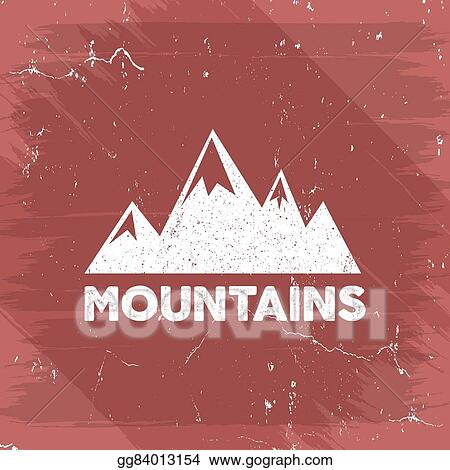 Hand Drawn Wilderness Old Style Typography Poster With Retro Mountains Letterpress Print Rubber Stamp Effect Watercolor Ink Splash Background