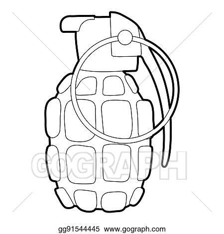 Stock illustration hand grenade icon outline style clipart hand grenade icon outline style voltagebd Image collections