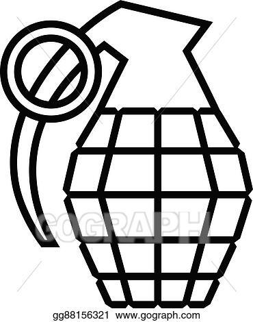 eps vector hand grenade vector stock clipart illustration rh gograph com Grenade Drawing Grenade Graphics