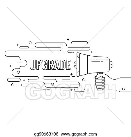vector clipart hand holding a megaphone vector illustration gg90563706 gograph gograph