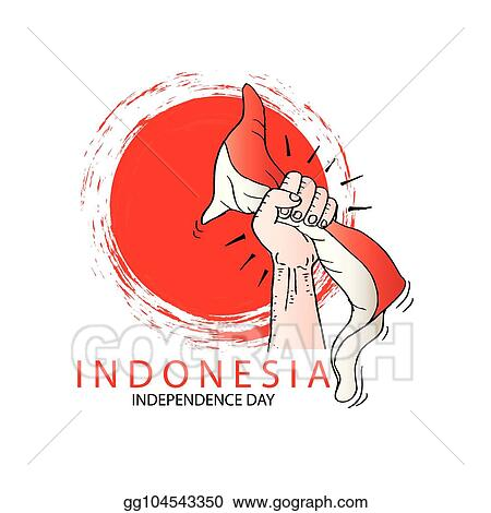 clip art vector hand holding a red and white indonesian flag independence day celebration of indonesia stock eps gg104543350 gograph hand holding a red and white indonesian