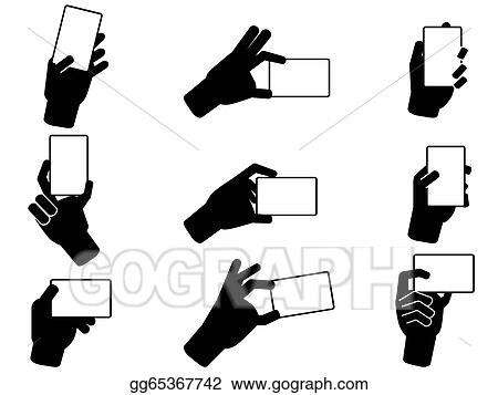 Vector art hand holding business cards clipart drawing hand holding business cards colourmoves
