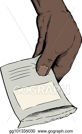 stock illustration hand holding open seed packet clip art rh gograph com seed packets clipart seed packet clip art free