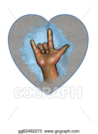 Drawing Hand Making Sign For I Love You Clipart Drawing