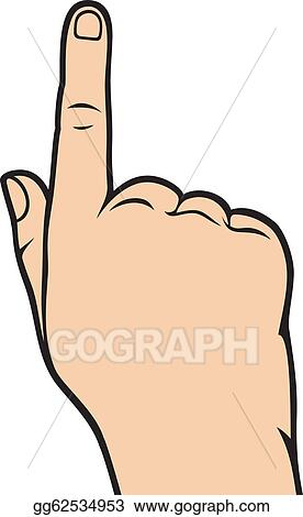 vector art hand pointing clipart drawing gg62534953 gograph https www gograph com clipart license summary gg62534953
