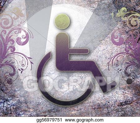 Clip Art Handicap Symbol Of Accessibility Stock Illustration