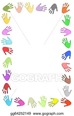 Stock Illustration - Handprint frame. Clipart Illustrations ...