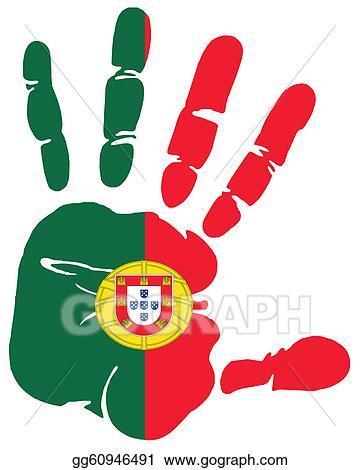 Vector Art Handprint Portugal Clipart Drawing Gg60946491