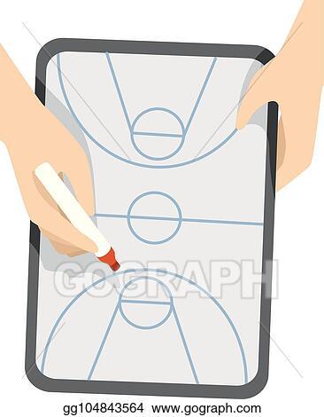 Eps Illustration Hands Basketball Game Plan Board Illustration