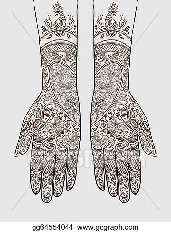 Eps vector hands with henna tattoo stock clipart illustration hands with henna tattoo stopboris Gallery