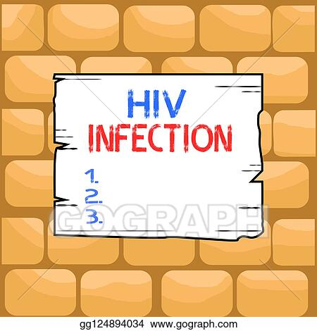 Clipart - Handschrift, text, schreibende, hiv, infection