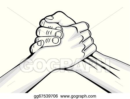 Vector Art Handshake Two Male Hands Clipart Drawing Gg67539706