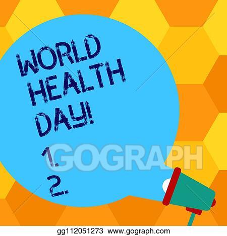 Clip Art - Handwriting text writing world health day ...