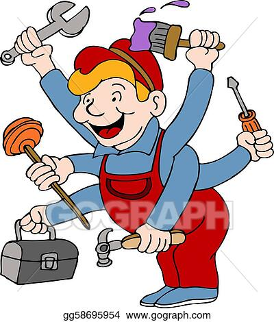 vector art handyman clipart drawing gg58695954 gograph rh gograph com handyman clipart free handy man clipart image
