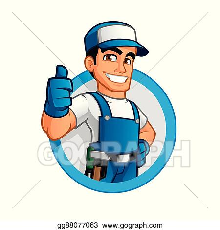 vector art handyman clipart drawing gg88077063 gograph rh gograph com handyman clip art images handyman clip art free online