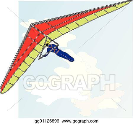 Vector Art - Hang glider vector  Clipart Drawing gg91126896