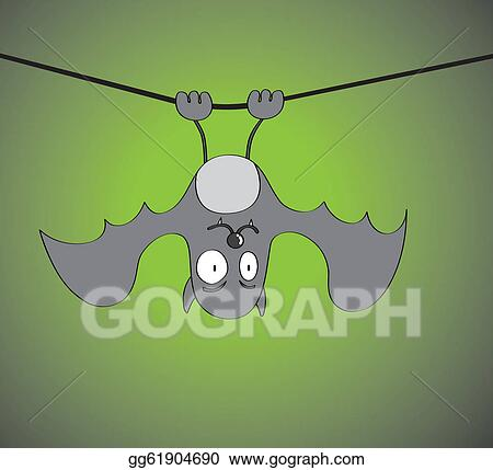 vector stock hanging bat clipart illustration gg61904690 gograph