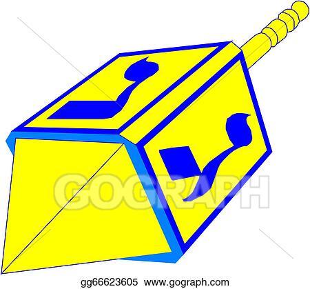 clip art vector hanukkah dreidel stock eps gg66623605 gograph rh gograph com dreidel clipart images dreidel clipart free