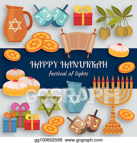 Clip art vector hanukkah greeting card with torah menorah and hanukkah greeting card with torah menorah and dreidels place for your text m4hsunfo