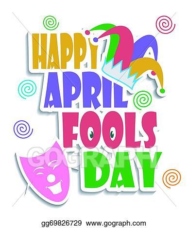 April happy. Vector illustration fools day