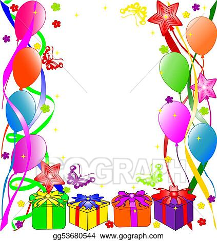 stock illustration happy birthday background clipart rh gograph com happy birthday background free clipart