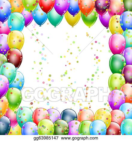 Birthday Frame Clip Art - Royalty Free - GoGraph
