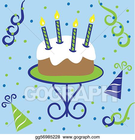 Magnificent Vector Art Happy Birthday Cake Clipart Drawing Gg56985228 Gograph Funny Birthday Cards Online Elaedamsfinfo