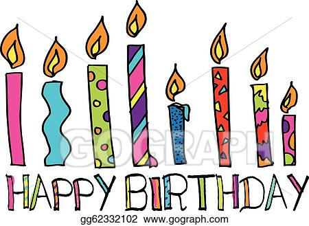 Happy Birthday Candles Vector Illustration