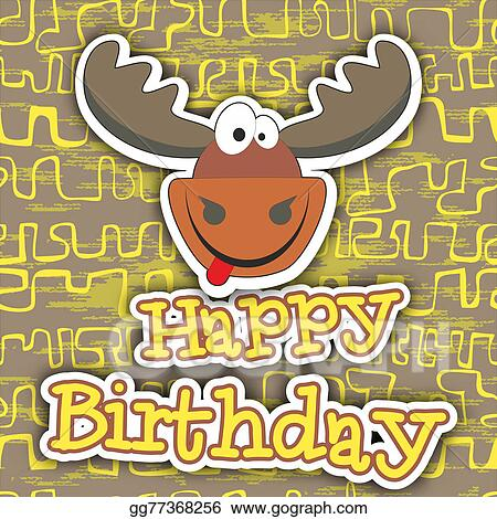 Happy Birthday Card Design Vector Illustration