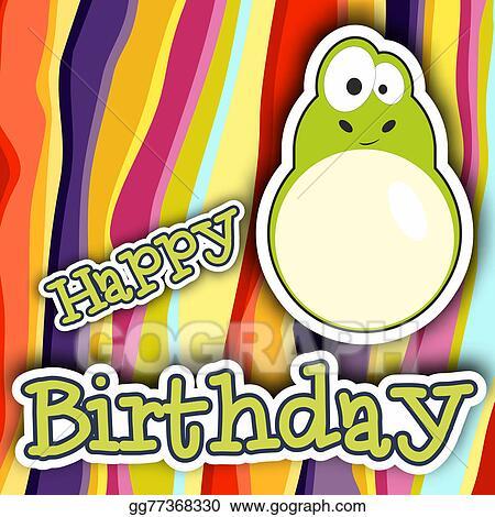 Happy Birthday Card Design Vector Illustration
