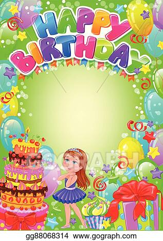 Happy Birthday Card With Place For Text