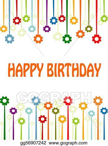 Vector Stock Happy Birthday Card Clipart Illustration Gg56907242