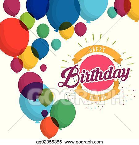 Happy Birthday Explosion Confetti Balloons Card