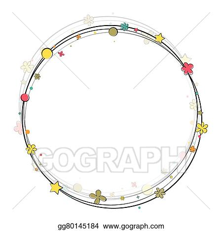 Vector Art - Happy birthday frame . Clipart Drawing gg80145184 - GoGraph