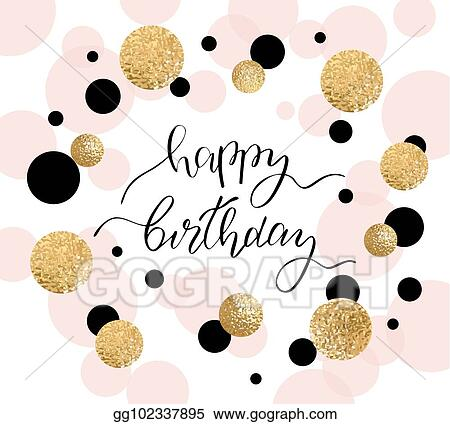 Vector Stock Happy Birthday Greeting Card And Party