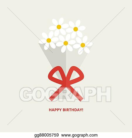 Vector Art Happy Birthday Greeting Card Clipart Drawing