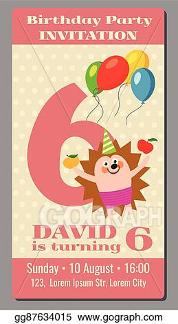 Vector Art - Sixth birthday - i am already 6 years old. Clipart Drawing  gg91303889 - GoGraph