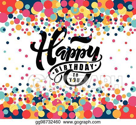 Eps Illustration Happy Birthday Text As Birthday Badge Tag
