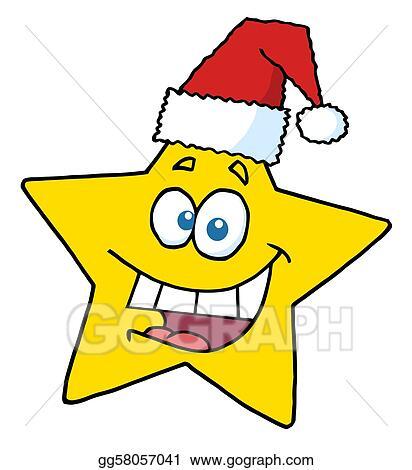 Christmas Star Images Clip Art.Clip Art Vector Happy Christmas Star Smiling Stock Eps