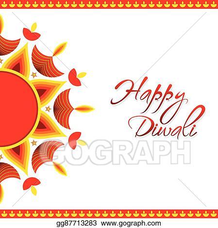 Vector illustration happy diwali greeting card design stock clip happy diwali greeting card design m4hsunfo