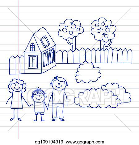 House Art Kids Drawing