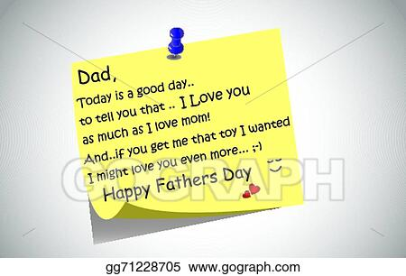 Vector art happy fathers day post it note eps clipart gg71228705 happy fathers day post it note m4hsunfo