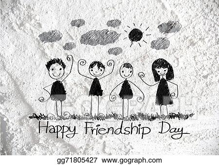 stock illustration happy friendship day and best friends forever