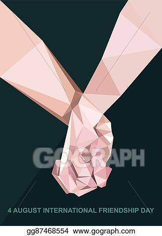 Vector Art Happy Friendship Day Card 4 August Clipart Drawing Gg87468554 Gograph