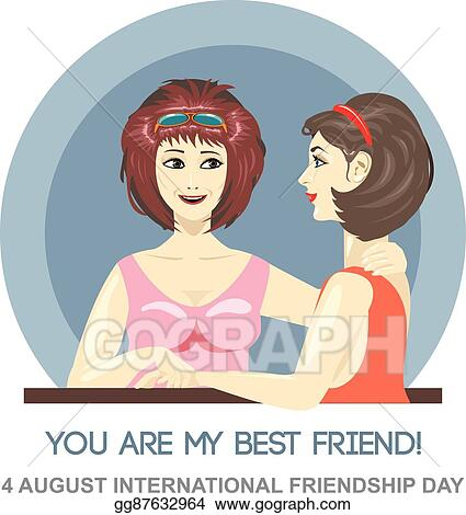 Vector Art Happy Friendship Day Card 4 August Clipart Drawing Gg87632964 Gograph